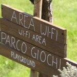 Diciocco agriturismo per famiglie in toscana: l'area wi-fi e il parco giochi