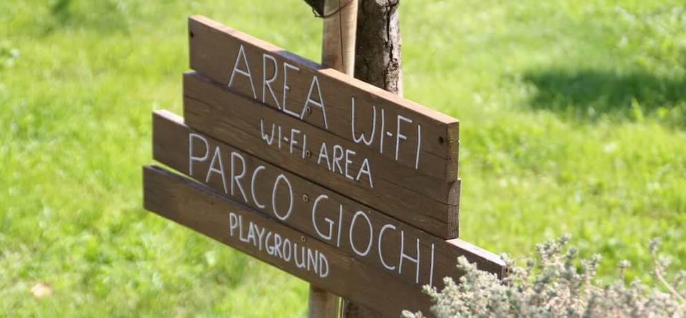 Diciocco agriturismo per famiglie in toscana: area wi-fi e parco giochi